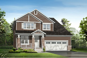 Spacious 38' corner model with a tandem garage, wide lot
