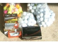New and used golf balls