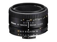 Nikon 50mm 1.8 af-d excellent condition