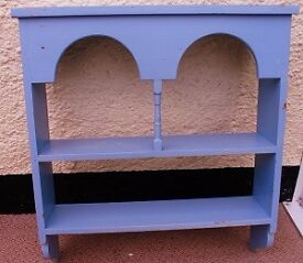 Wooden wall shelf, painted blue (price reduced!)