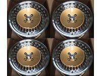 """15"""" alloy wheels alloys rims tyre tyres 4x100 vauxhall Vw Volkswagen Honda BMW e30"""