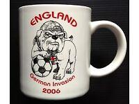 England 2006 Football World Cup Mug Invasion Of Germany Ceramic Cup