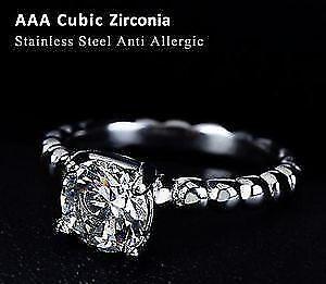 Italina CZ diamant anneaux de mariage pour les femmes 316L.