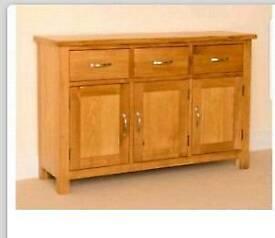 Sideboard oak large . RRP £350
