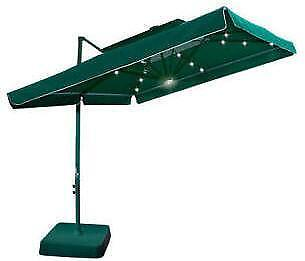 square offset umbrella ebay. Black Bedroom Furniture Sets. Home Design Ideas