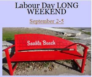 Labour Day Long Weekend Sept 2-5 SAUBLE BEACH COTTAGE RENTALS