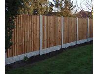2 8ft post 5 gravel boards 2 6x6 vertilap panels brand new