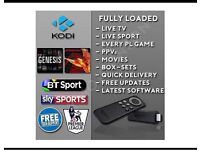 AMZON FIRE TV STICK , KINDLE FIRE STICK *CHIPPED* (FULLY LOADED)