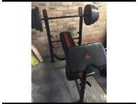 Adidas weight bench & weights