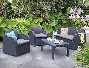 Plastic Rattan Garden Furniture Ebay