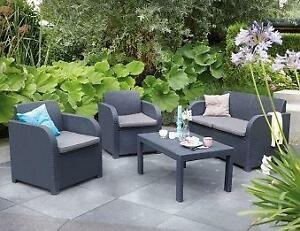 Plastic Rattan Garden Furniture