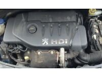 peugeot 207 1.4 hdi complete engine with Turbo 76k warrantied