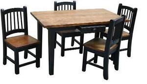Mennoninte handcrafted solid wood kids desk table sets - FREE SHIPPING