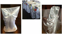 Chair Covers For Rent - Universal White Satin