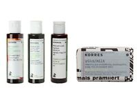 Korres 40ml shower gel shampoo conditioner face body soap travel set skin bath
