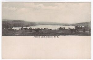 Nassau Lake Nassau New York 1910c postcard