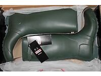 NEW Iconic Hunter Original Tall Wellington Boots - Dark Olive Green