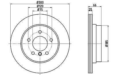Brake Disc Mintex MDC2232 Fits Rear