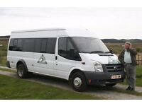 PRO MINIBUS HIRE IPSWICH. MINIBUS HIRE IPSWICH WITH DRIVER. 8,12 and 16 seater minibus with driver.