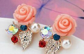 Flower studs earring