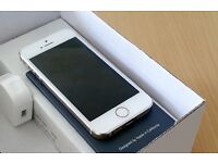 64GB IPHONE 5S, SIMFREE, ALL NETWORKS, BRAND NEW REPLACEMENT, NEVER USED, GENUINE APPLE UK STOCK