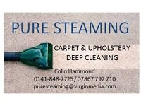 PURE STEAMING CARPET & UPHOLSTERY DEEP CLEANING
