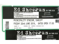Ed Sheeran 2 Tickets - Friday 22 June 2018 - Principality Stadium - Cardiff