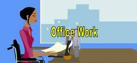 Wanted office work