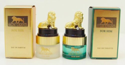 120 PCS MGM Grand Perfume Gift Set for HIM & HER Travel Size