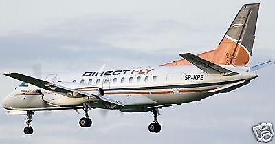 Saab 340 Direct Fly Airplane Wood Model Desktop Wood Model Regular Free Shipping for sale  Shipping to Canada