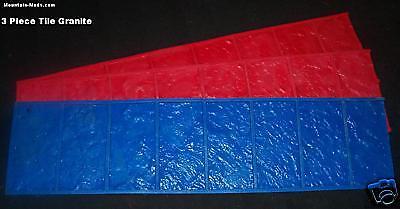 3 Cut Stone Brick Border Decorative Concrete Cement Texture Imprint Stamps Mat