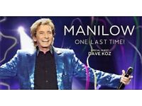 2 Barry Manilow Tickets in the Motorpoint Arena 20th June