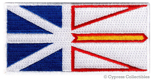 NEWFOUNDLAND FLAG embroidered iron-on PATCH CANADA EMBLEM Canadian Province NEW