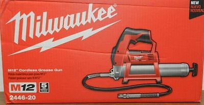 Milwaukee M12 12V Li-Ion Grease Gun (Bare Tool) 2446-20 New