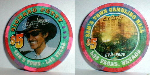 Richard Petty $5 Chip from the 2000 Sam