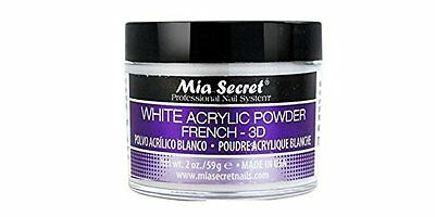 Mia Secret Professional Acrylic Nail System White Acrylic Powder 2 oz 3D NEW