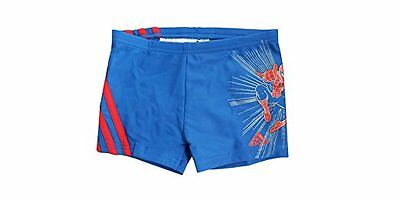 Adidas Disney Marvel Blue Red Kids Lycra Spiderman Swimming Shorts M64878 EE95