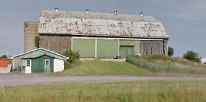 3 massive barns (80 x 40 ft) started March 12 2018, all kinds of barn boards, beams, roof metal
