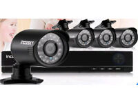 Complete 4 camera HD cctv system - brand new in box - whilst stocks last