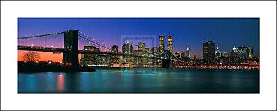 Down Town IV NEW YORK skyline brooklyn bridge PRINT SIZE:20cm x 50cm NEW print