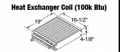 Central Boiler Heat Exchanger Coil 100k Btu