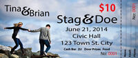 Stag & Doe Tickets Raffle with Perforation