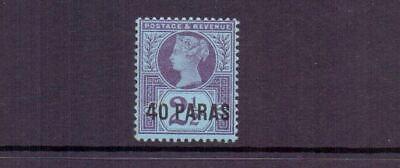 BRITISH LEVANT 1887 40pa ON 2½d LMM CAT £21