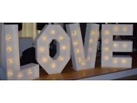 Giant 4ft love letters cheap as possible please