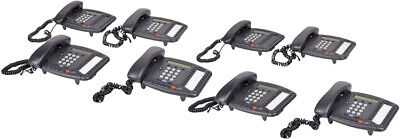Lot of 10 3COM 3102 Charcoal Business VOIP Phones