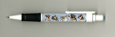 Miniature Schnauzer Dog Design Retractable Acrylic Ball Pen by paws2print