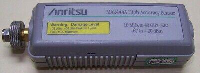 Anritsu Ma2444a High Accuracy Power Sensor 10mhz-40ghz -67 To 20dbm Full Test