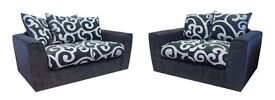 Samantha sofa 3x2 seater available in black or brown brand new can deliver