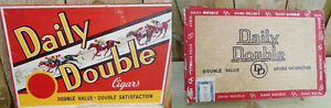 VINTAGE 1935's DAILY DOUBLE CIGARS BOX - IMPERIAL TOBACCO CO.