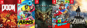 SWITCH Games For Sale or Trade - Mario, Zelda, Arms, Doom,Diablo